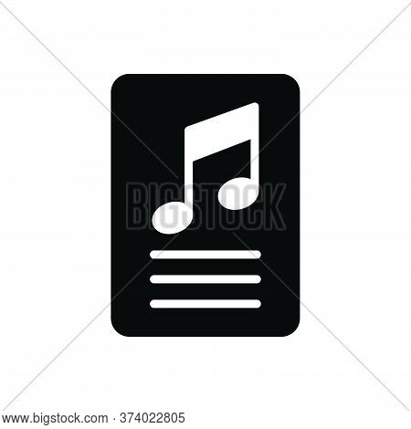 Black Solid Icon For Lyric  Studio Writing Music Playlist Musical Technology