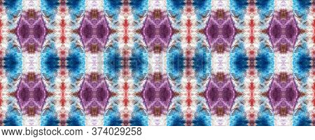Spring Floral Ikat. Simple Lace Image. Summer Retro Rug. Gentle Violet Seamless  Decorative Art Imag