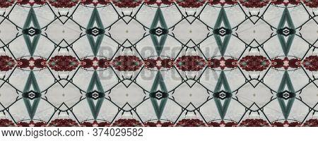 Spring Floral Ikat. Patterns Lisbon Decor. Ogee Geo Pattern. Gentle Pink Seamless  Decorative Art Im