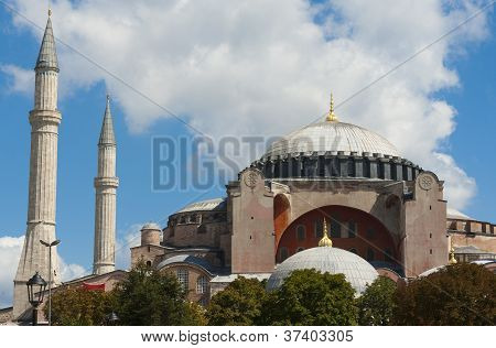 View Of The Hagia Sofia In Istanbul