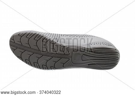 Printed Sole Shoes With A Tread Pattern For A Comfortable And Comfortable Walking Bottom View, Footw