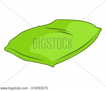 Green Pillow Isolated Illustration On White Background
