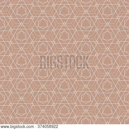 Continuous Elegant Graphic Continuous, Background Pattern. Repeat Simple Vector Polygon Textile Text