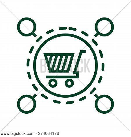 Black Line Icon For Market-place-service Market Place Service Transaction Supply Service
