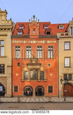 Prague, Czech Republic - January 15, 2015: Ornate Building Of 14th-century Old Town Hall, Known For