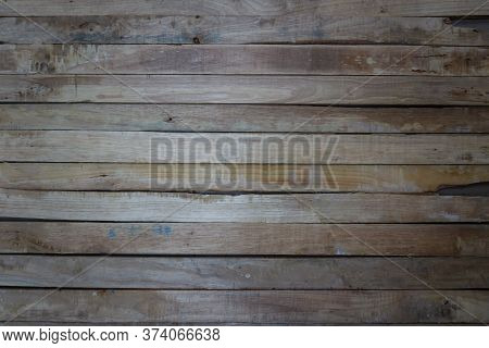 Old Grunge Wood Plank Texture Background. Vintage Blue Wooden Bo