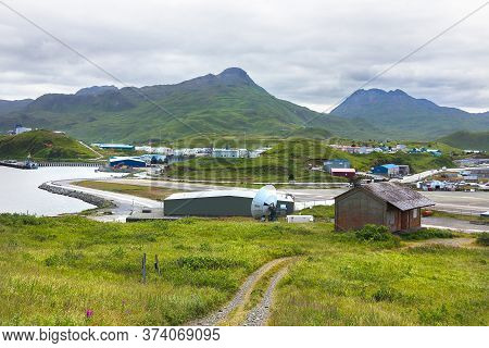 Dutch Harbor, Unalaska, Alaska, Usa - August 14th, 2017: View Of The Tom Madsen Airport, Dutch Harbo