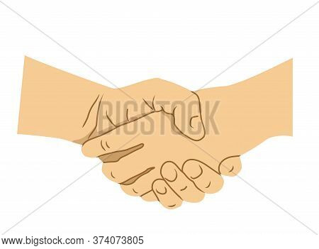 Handshake Of Business Partners Or Friends. Business Handshake. Symbol Of Success Deal, Happy Partner