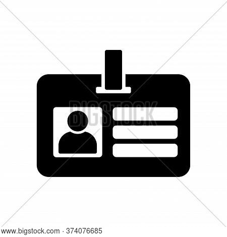 Id Card Security Card Icon Vector Design Template