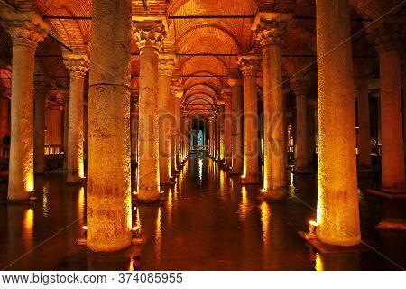Istanbul / Turkey - 31 Oct 2014: Basilica Cistern In Istanbul, Turkey