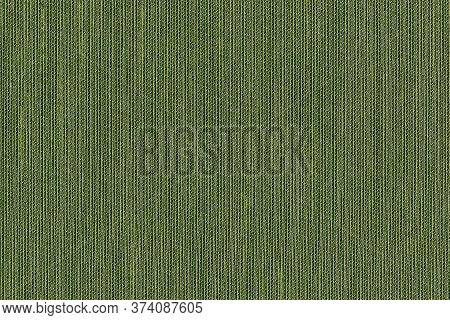 Closeup Green Color Fabric Sample Texture Backdrop.green ,olive Color Fabric Strip Line Pattern Desi