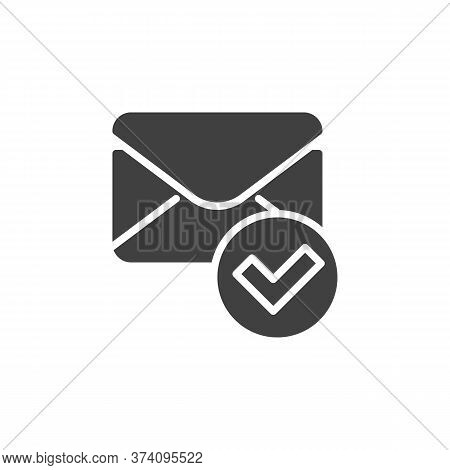Confirmed Message Vector Icon. Received Mail Filled Flat Sign For Mobile Concept And Web Design. Env