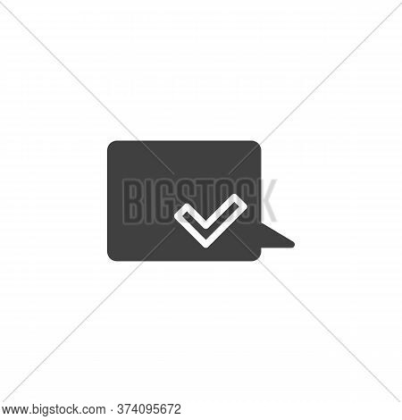 Received Message Vector Icon. Filled Flat Sign For Mobile Concept And Web Design. Speech Bubble With