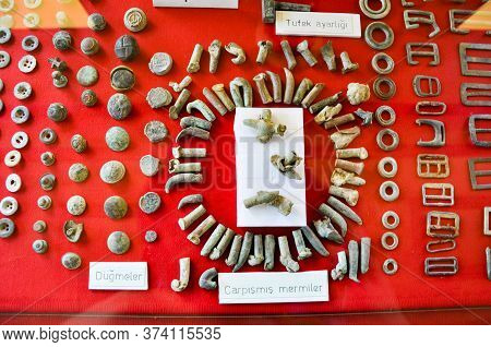 Bigalı, Çanakkale,turkey-june 24,2011-museum Of The 19th Infantry Division, Bullets That Collide In