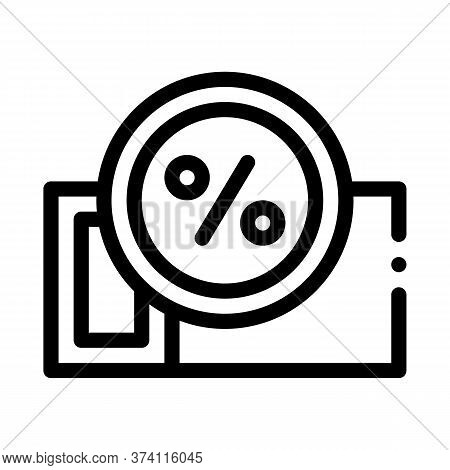 Webshop Coupon Icon Vector. Webshop Coupon Sign. Isolated Contour Symbol Illustration