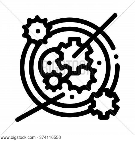Watch Mechanism Icon Vector. Watch Mechanism Sign. Isolated Contour Symbol Illustration