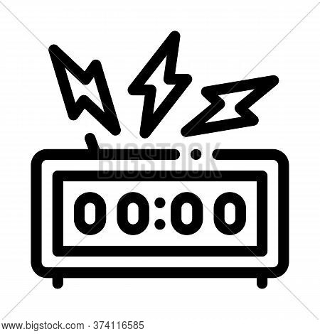 Watch Alarm Icon Vector. Watch Alarm Sign. Isolated Contour Symbol Illustration