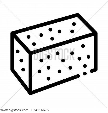 Soy Tofu Icon Vector. Soy Tofu Sign. Isolated Contour Symbol Illustration