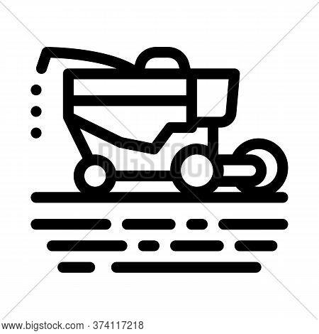 Soy Harvesting Machine Icon Vector. Soy Harvesting Machine Sign. Isolated Contour Symbol Illustratio