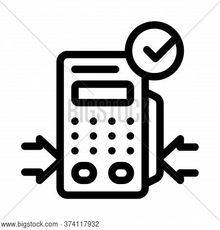 Pos Terminal Device Icon Vector. Pos Terminal Device Sign. Isolated Contour Symbol Illustration