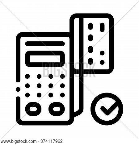 Card Pos Terminal Icon Vector. Card Pos Terminal Sign. Isolated Contour Symbol Illustration