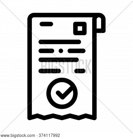 Payment Receipt Icon Vector. Payment Receipt Sign. Isolated Contour Symbol Illustration