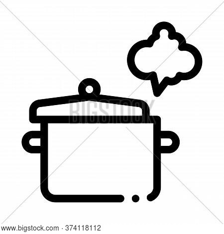 Cooking Odor Icon Vector. Cooking Odor Sign. Isolated Contour Symbol Illustration