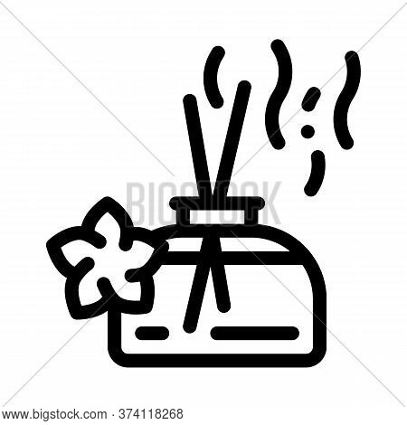 Aroma Odor Parfume Stick Icon Vector. Aroma Odor Parfume Stick Sign. Isolated Contour Symbol Illustr