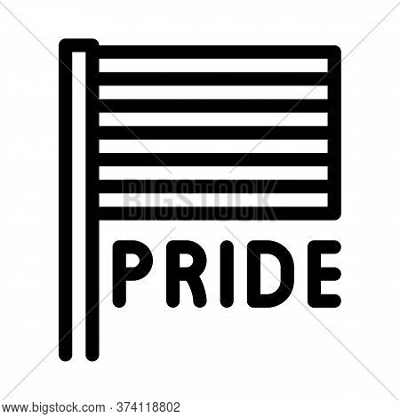 Lgbt Flag Icon Vector. Lgbt Flag Sign. Isolated Contour Symbol Illustration