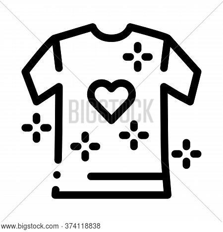 Lgbt T-shirt Icon Vector. Lgbt T-shirt Sign. Isolated Contour Symbol Illustration