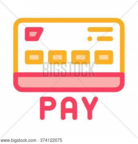 Webshop Payment Card Icon Vector. Webshop Payment Card Sign. Color Symbol Illustration