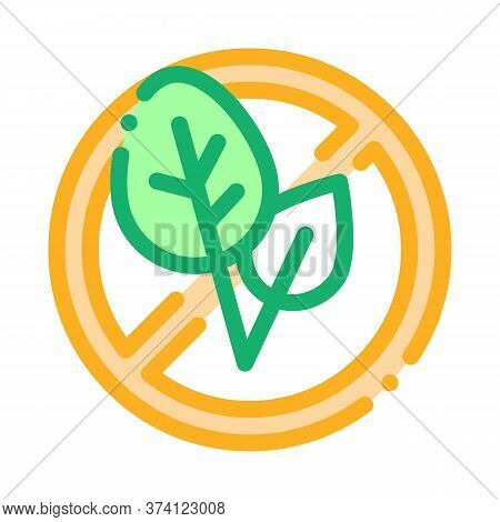 Soy Leaves Crossed Out Sign Icon Vector. Soy Leaves Crossed Out Sign Sign. Color Symbol Illustration