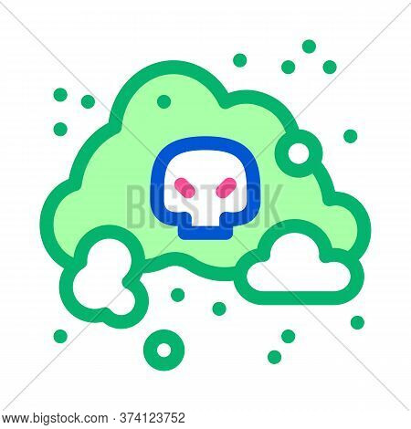 Smell Odor Smoke Icon Vector. Smell Odor Smoke Sign. Color Symbol Illustration
