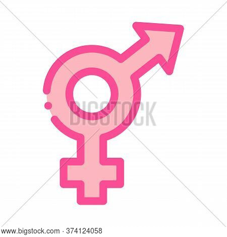 Bisexual Sign Icon Vector. Bisexual Sign Sign. Color Symbol Illustration