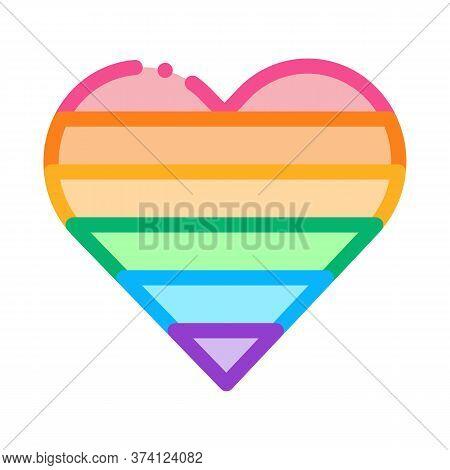 Lgbt Heart Icon Vector. Lgbt Heart Sign. Color Symbol Illustration