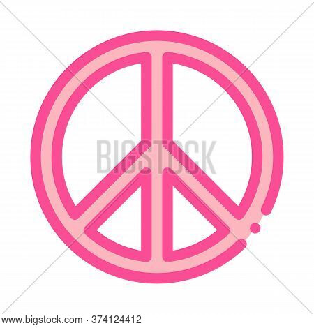 Lgbt Hippie Love Freedom Sign Icon Vector. Lgbt Hippie Love Freedom Sign Sign. Color Symbol Illustra