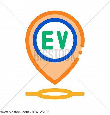 Electro Chard Station Gps Mark Icon Vector. Electro Chard Station Gps Mark Sign. Color Symbol Illust
