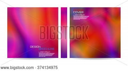 Brochure Template With Futuristic Wavy Shapes. Magazine, Poster, Book, Presentation, Advertising. Ab