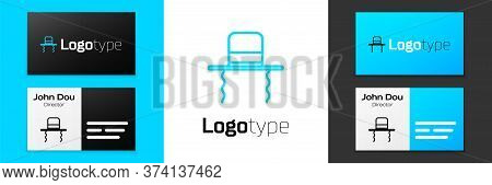 Grey Line Orthodox Jewish Hat With Sidelocks Icon Isolated On White Background. Jewish Men In The Tr