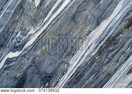 Natural Marble Texture Of Stone Or Marble Rock Closeup Of White Blue Color For Background