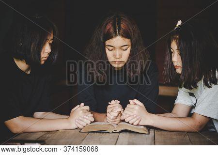 Group Of People Praying Worship Believe.