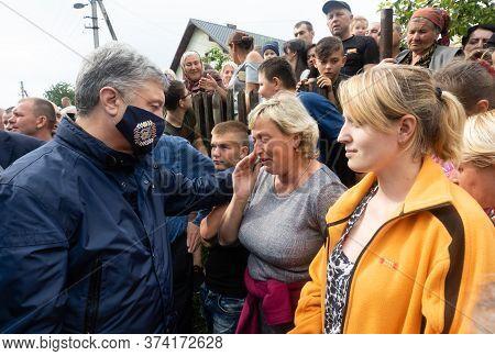 Carpathian Reg. Ukraine - 28 Jun. 2020: Catastrophic Flood In The Western Regions Of Ukraine. Fifth