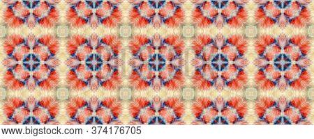 Majestic Floral Tile. Watercolor Majolica Tile. Elegant Geo Pattern. Red, White Seamless  Decorative