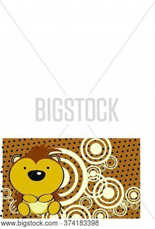 Little Baby Porcupine Cartoon Background In Vector Format