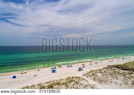 Aerial View Of Pensacola Beach, Florida In June 2020