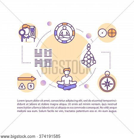 Sacred Knowledge Concept Icon With Text. Eastern Spirituality. Religious Experience. Esoteric Symbol