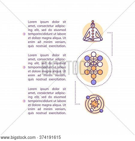 Human Body Design Concept Icon With Text. Energy Flow In Chakras. Spiritual Centers. Self Understand