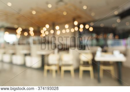 A Blurred Background Of Restaurant With Bokeh
