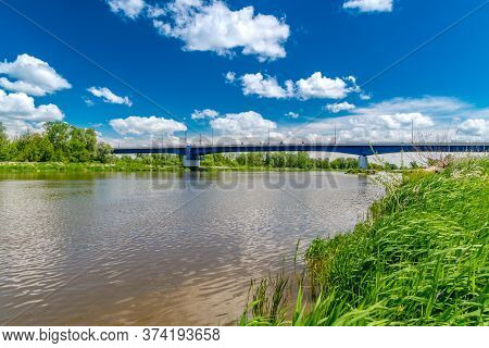 Bug Or Western Bug River At Summer Time. Bug Is Major River Mostly Located In Eastern Europe, Which