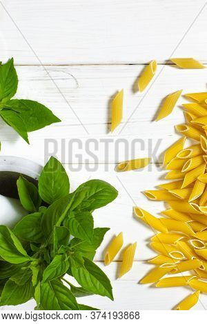Cooking Vegetarian Penne Pasta From Organic Products